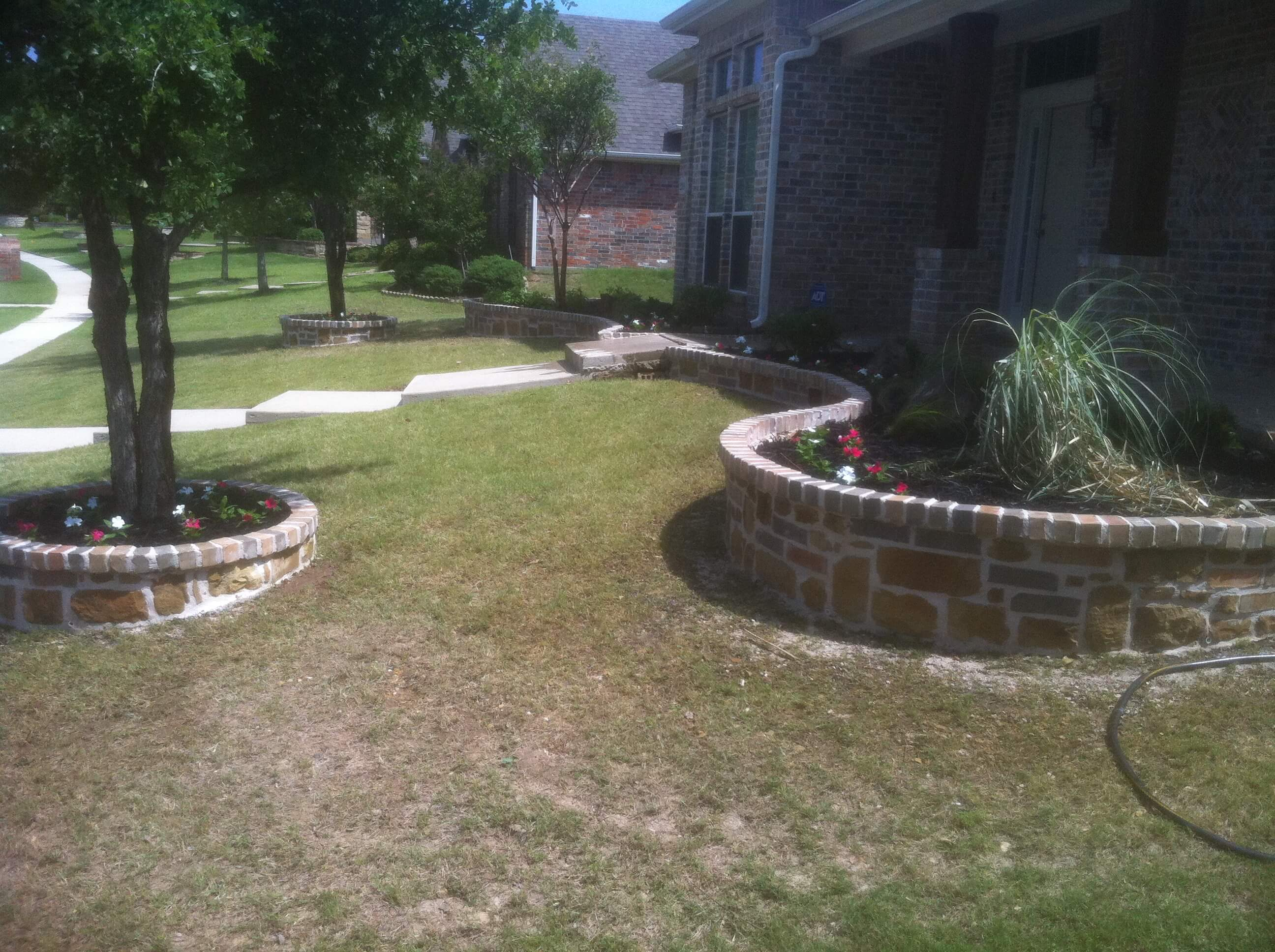 new landscaping work