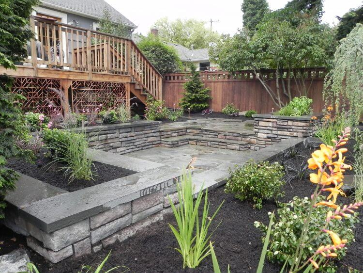 Multi-Level-Patio-with-Raised-Flower-Beds