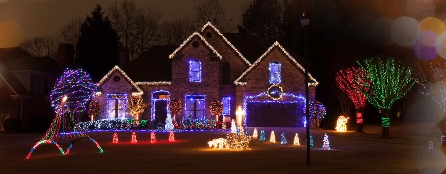 christmas lights setup around house company service