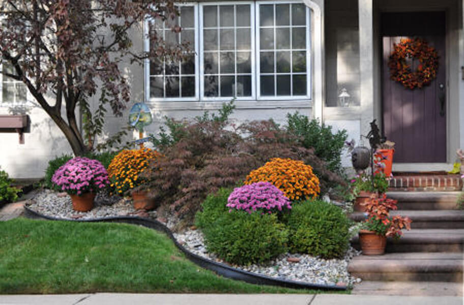 fall landscaping ideas potted plants