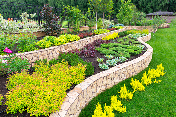 Landscaping Stone Borders Around Flower Beds