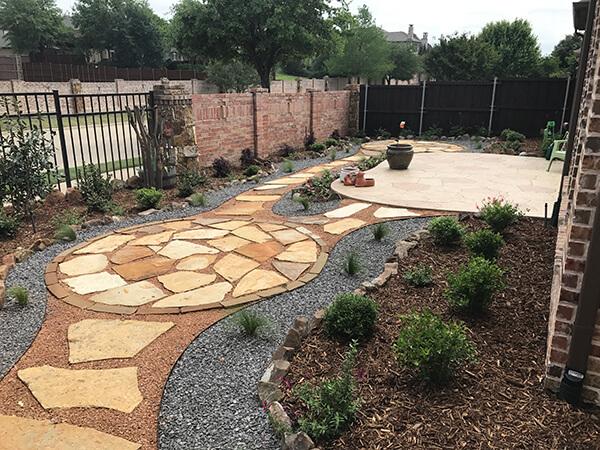 plano landscaping walkway