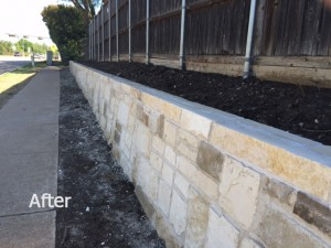Retaining wall landscaping After
