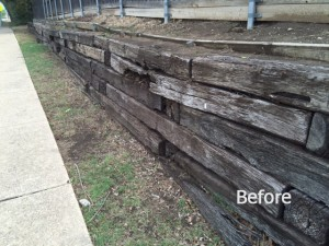 Before - Retaining Wall Construction