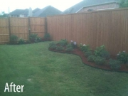 After - Landscaping Flowerbeds